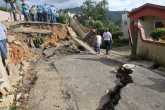 Cayey, Puerto Rico, August 28,2011 -- Justo Hernandez, Federal Coordinating Officer and the Governor of Puerto Rico visited Barrio de Beatriz in Cayey to asses damages. FEMA declared a major disaster for this municipality after hurricane Irene. FEMA/Ashley Andújar